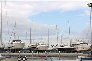 Sailboat Storage and Boat Stands in Off-Season
