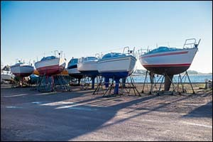 Storing Boats on Shore