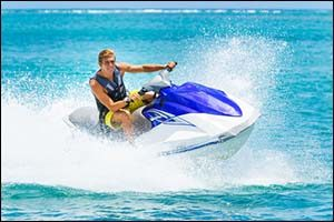 Young Man on Jet Ski