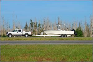Hauling Boat on a Trailer Safely
