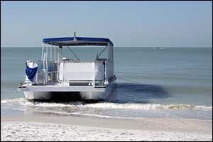 How to Winterize a Pontoon: Store on Galvanized Boat Stands